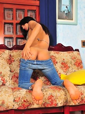 Beautiful Luana seducing with her big penis & tits